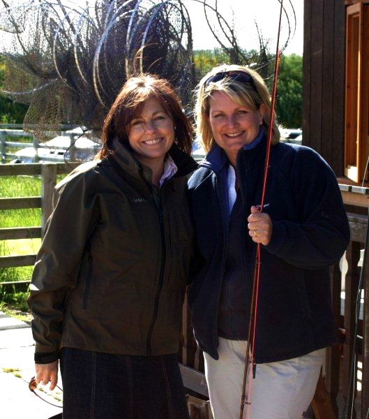 Anne & Alison Brown, Chatton Trout Fishery